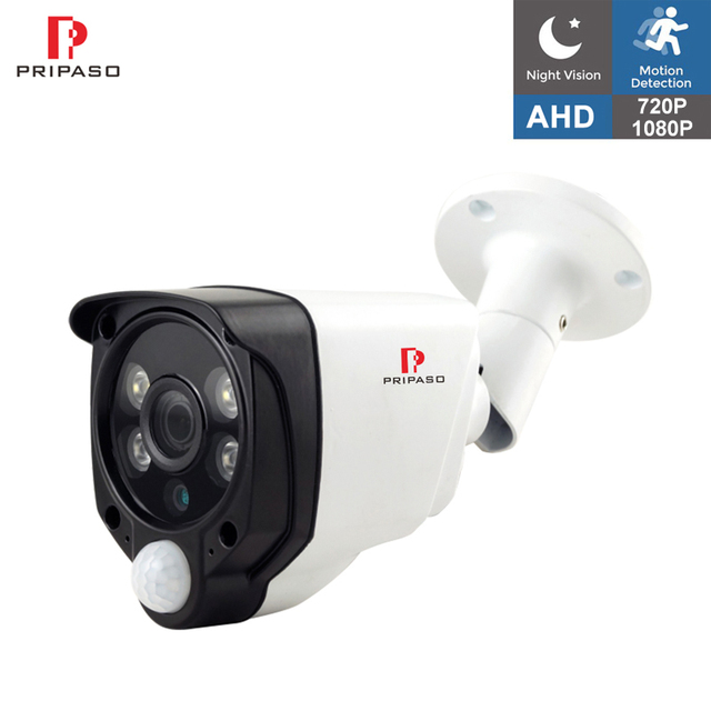 HD 1080P 2MP 4 in 1 PIR Function Alarm Camera Outdoor IR Waterproof CCTV Outdoor Motion Detection Security Camera AHD CVI TVI