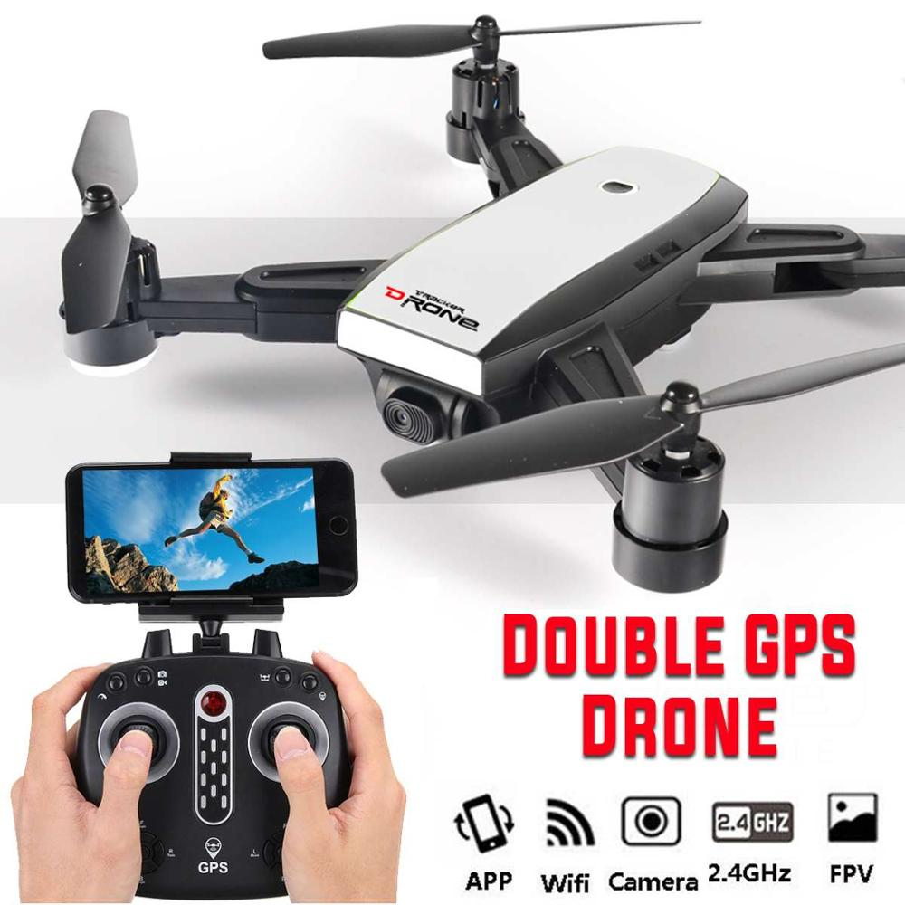 Dual GPS Drone 2.4G Quadcopter with Camera HD FPV Drones Headless Mode Smart follow Dron RC Helicopter Drone profissional toys image