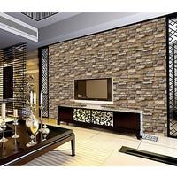 Papel de pared con efecto de ladrillo de piedra 3D, paneles autoadhesivos para pared de ladrillo, artesanía, decoración del hogar, Fondo de TV, dormitorio y sala de estar