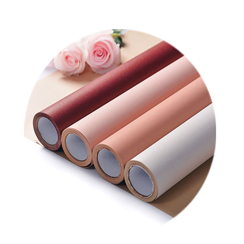 Florist-Supplies Bouquet Paper-Roll Packaging Tissue Floral-Gift Two-Tone DIY Korean title=