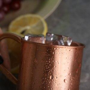 Image 2 - Mug pour cocktails de moscou, avec poignée en cuivre pur Style européen et américain, tasse de Bar pour boissons froides, h3