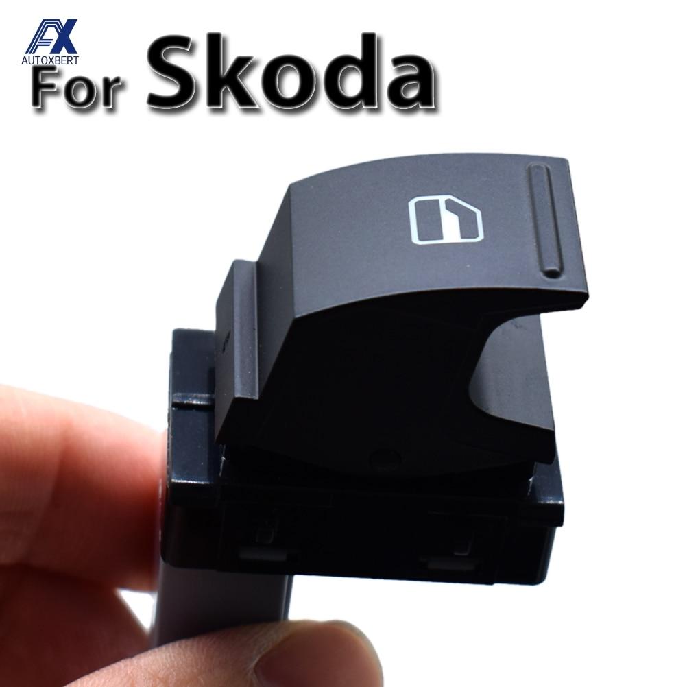 Única janela de energia interruptor levantador porta lateral botão controle elétrico para skoda octavia fabia superb roomster oe #5j0959855