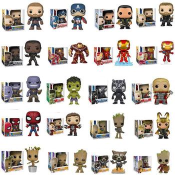 FUNKO Anime Marvel Grootted Hulk Tony Stark Iron Man Spider-Man kolekcja figurek pcv zabawki modele dla dzieci świąteczny prezent tanie i dobre opinie 4-6y 7-12y 12 + y CN (pochodzenie) Unisex no fire 10cm PIERWSZA EDYCJA Wyroby gotowe TMarvel Zachodnia animacja Produkty na stanie