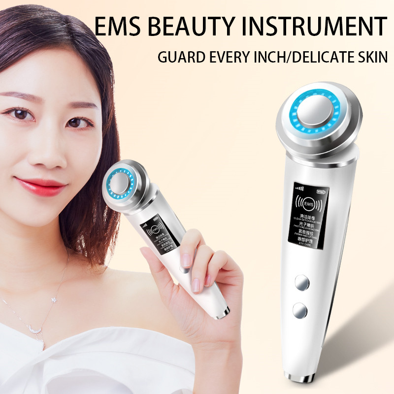 EMS Beauty Instrument LED Photon Light Therapy Facial Skin Care Tool Device Face Lifting Tighten Ems Massager Beauty Machine