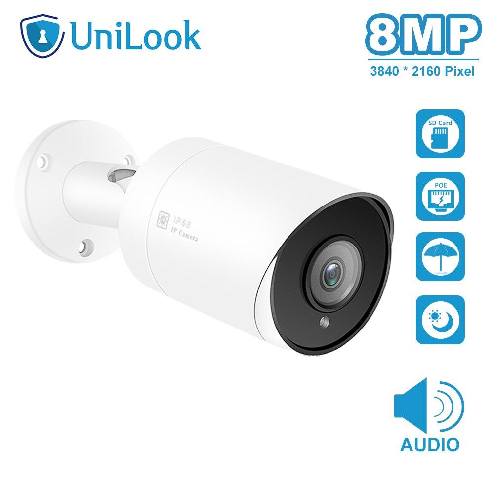UniLook(Hikvision Kompatibel) 8MP Kugel POE IP Kamera Mit SD Card Slot In/Outdoor Sicherheit IP66 Nachtsicht H.265 ONVIF