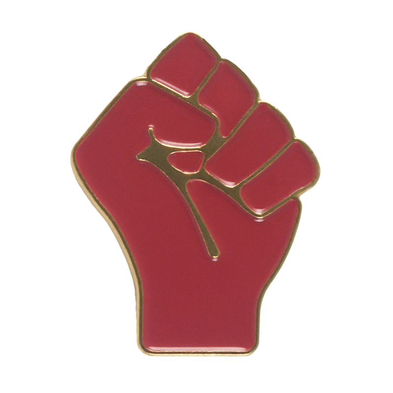 Raised Fist of Solidarity Pins Badges Brooches Enamel Lapel Pin Backpack Bag Accessories Gift for Women girls Partner Frien