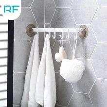 1 pçs plástico ventosa cozinha cabide organizador toalha de banho toalha gancho do banheiro ferramenta de cozinha flexível rack armazenamento prateleira R-F