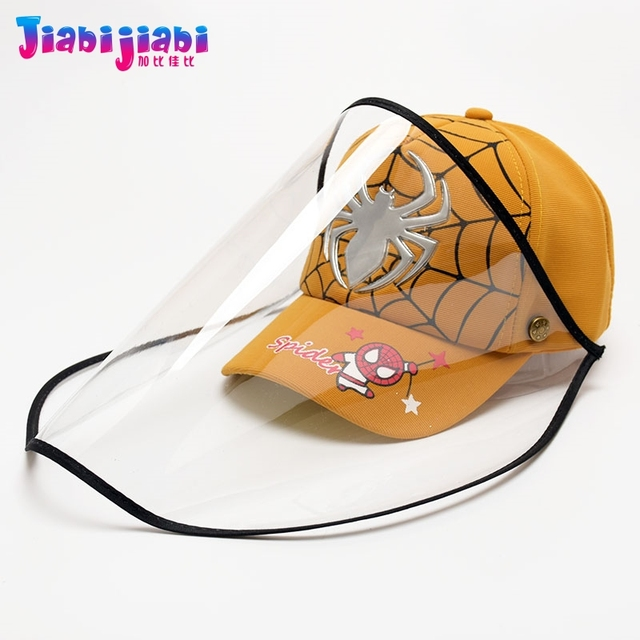 Scherza il Cappello Maschera Del Bambino del Ragazzo di Protezione Anti-Virus Sputare Viso Scudo Maschera Moda Protetor Viso Visiera Di Plastica Cap 1-3 vecchio 3