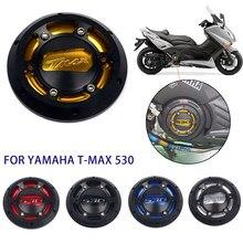 Nova motocicleta tmax motor estator capa cnc motor protetor de capa protetora para yamaha t-max 530 2012-2015 tmax 500 2008-2011