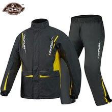 NERVE-chaqueta impermeable para motocicleta, traje impermeable para motorista, resistente al viento, pantalones Impermeables para Motocross con ropa reflectante