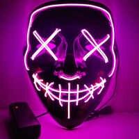1 stücke Neon LED Light Up Party Masken Die Purge Wahl Jahr Große Lustige Masken Festival Cosplay Kostüm Liefert glow In Dark