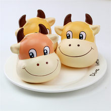 Cute Cattle Squishy Slow Rising Cream Scented Decompression Toys(China)