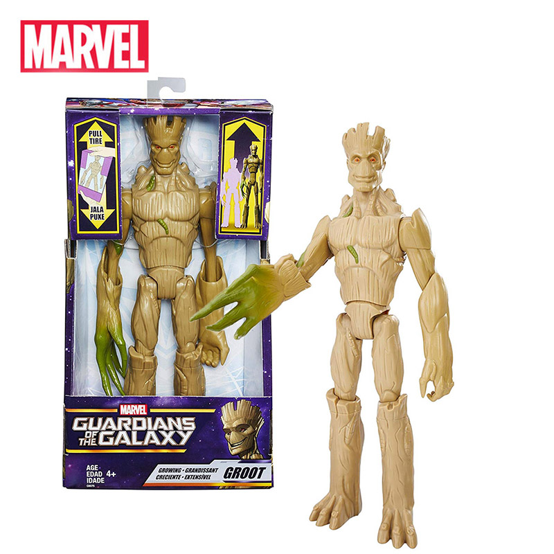 Marvel  Guardians Of The Galaxy Growing Groot Captain America Avengers Titan Hero Series Action Figure Toys For Children