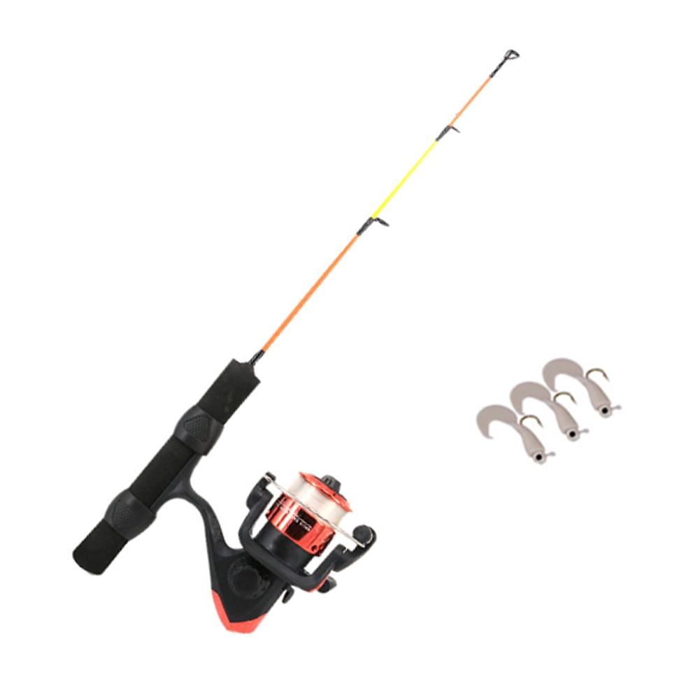 US Winter Fishing Rods Pocket Ice Fishing Rod Travel Spinning Pole Mini Travel