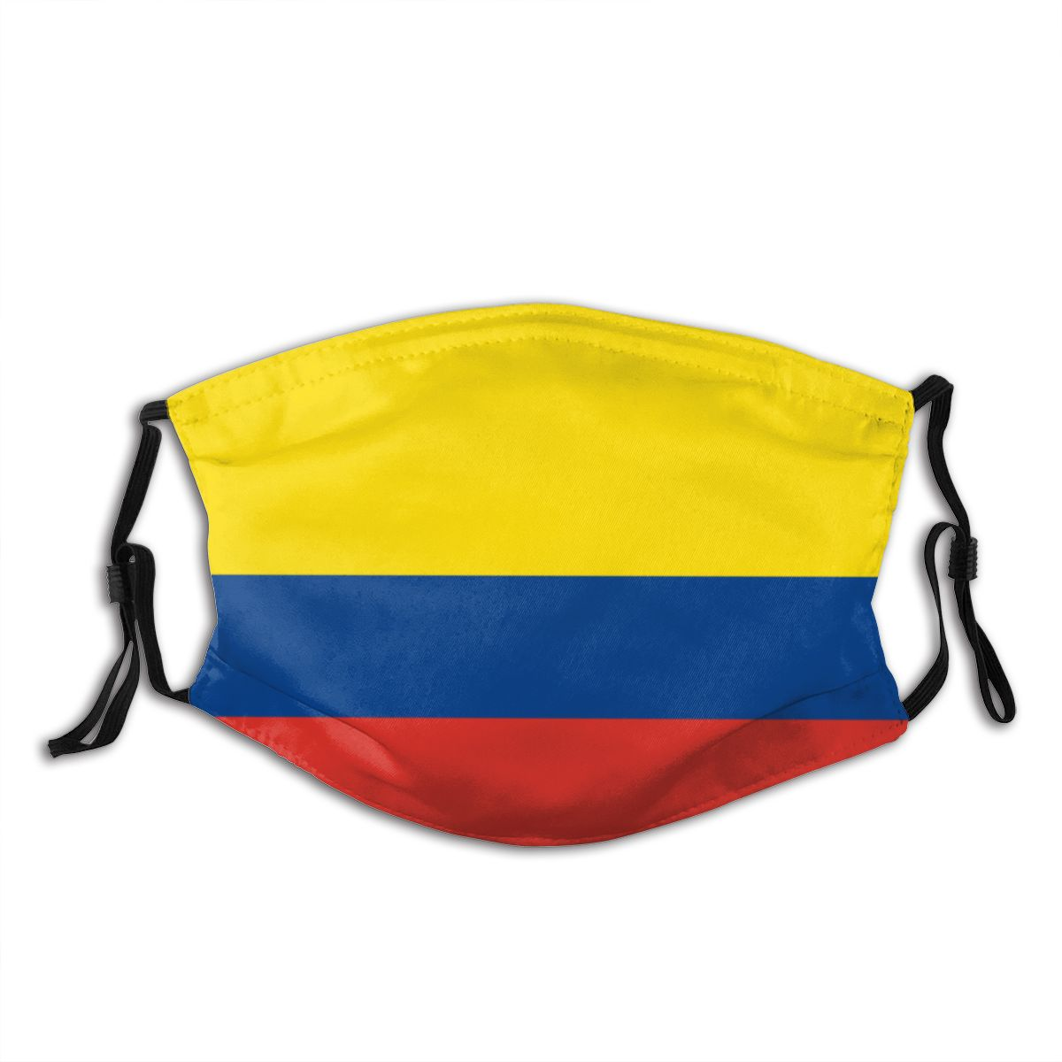 Protective Mask With Filter Colombia Flag (1) Anti Dust PM2.5 Reuse Adult Teen Child Girl