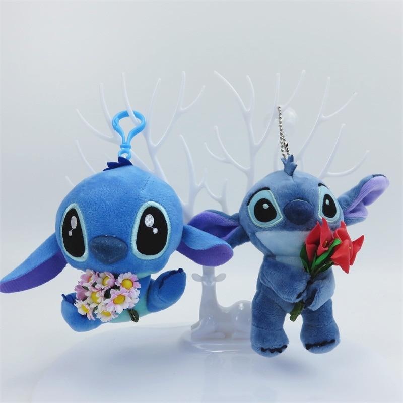 Cartoon Mini Stitch Plush Toys Small Pendant Keychains Soft Stuffed Dolls Creative Valentine's Day Christmas Birthday Gifts