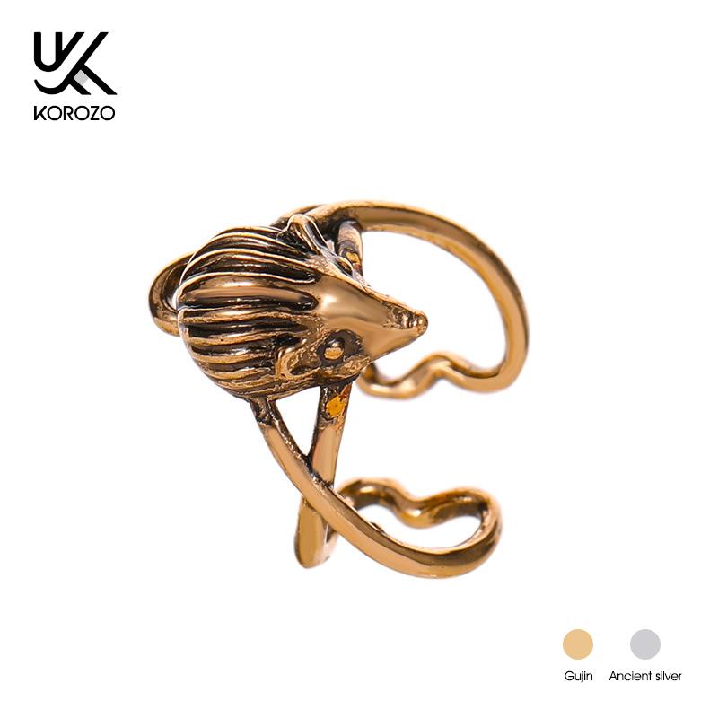Single Piece Retro Mouse Animal Ear Cuff Earrings for Women Trendy Rock Clip on Earrings Non-piercing Unisex 2019 Ear Wrap