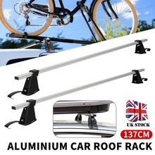 137cm Aluminium Car Top Roof Cross Bars Rack Luggage Cargo Carrier Roof Rack Crossbars Fit for Most Flat Top Car universal auto soft car roof rack outdoor rooftop luggage carry load 60kg baggage easy fit removable 600d oxford pvc roof racks