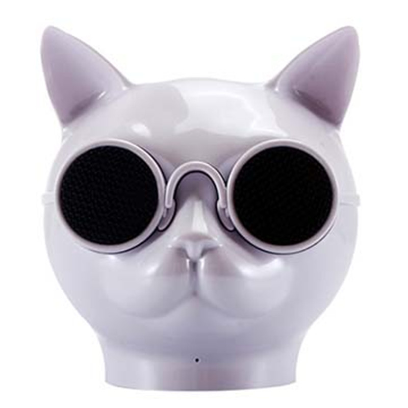 T8 Glasses Cute <font><b>Cat</b></font> Head <font><b>Bluetooth</b></font> <font><b>Speaker</b></font> Protable Mini Waterproof Wireless <font><b>Speaker</b></font> with Microphone Support TF Card image