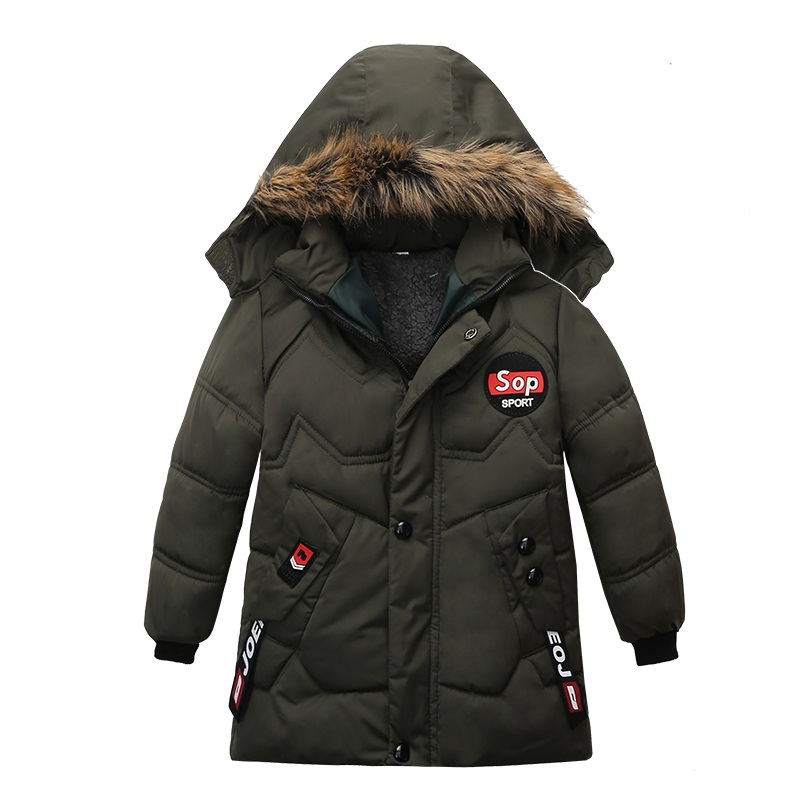 Outerwear Kids Jacket Zipper Warm Baby-Boys Winter Children Coat2-5-Years-Old Star Hooded