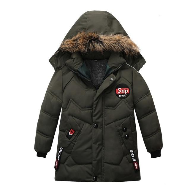 Boy Down Jacket 2020 Winter Warm Baby Boys Star Hooded  Wear Down Jacket 1