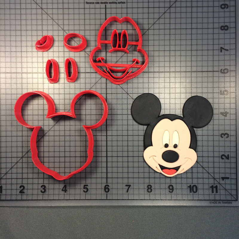 Mouse Mickey Cookie Tool Cake Mold Baking Set 3D Customized Mold Parent-child Diy Cookie Tool Home Baking Kitchen Sugar Turning