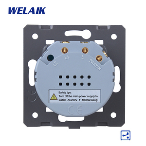 Image 5 - WELAIK מותג האיחוד האירופי מדרגות קיר מתג מגע מתג DIY חלקי מסך קיר אור מתג 1gang 2way AC250V A912