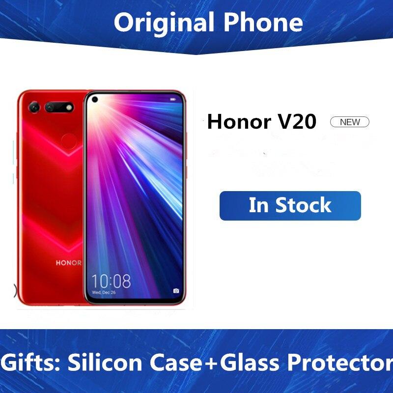 Honor View 20 Mobile Phone V20 Android 9.0 Kirin 980 Octa Core FingerPrint ID 6.4 Inch 3*Cameras 4000 MAh 8GB 256GB ROM