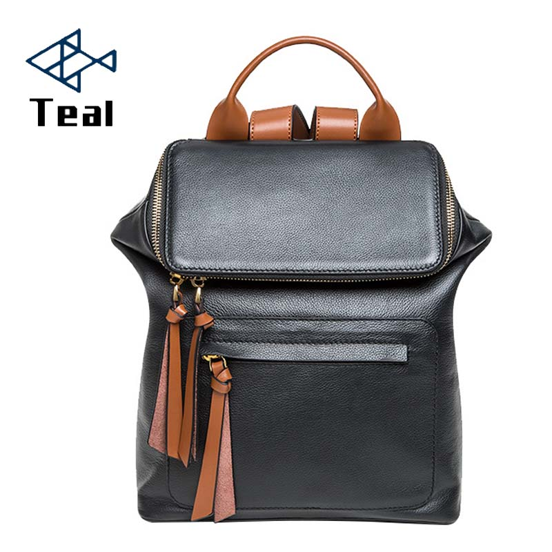 Women Backpack Genuine Leather Female Casual High quality Fashion Brand Designer Large Capacity