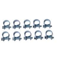 10 шт./компл. 7-9 мм мини зажим шланг подачи топлива воздушный шланг, хомуты кабельные наконечники в наборе для дизельного топлива трубы зажимы