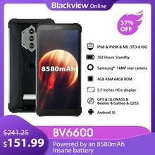 Blackview bv6600 ip68 impermeável smartphone 4gb + 64gb 8580mah robusto nfc telefone móvel 5.7