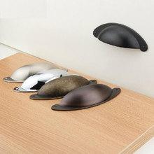 Retro Shell Design Knobs Dresser Drawer Pulls Handles Knob / Rustic Antique Bronze Kitchen Cabinet Furniture Hardware