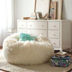 Pluszowe duże poszwa na poduszkę typu beanbag Sofa krzesło torba do napełniania krzesło meble do salonu bez wypełniacza fotografia rekwizyty pufa ottoman Puff fasoli w Miękkie pufy od Meble na
