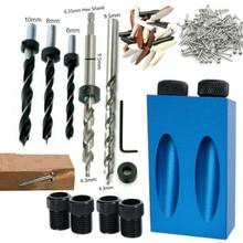 Carpintería orificio oblicuo localizador brocas agujero de bolsillo Jig Kit 15 grados ángulo taladro guía juego perforador DIY herramientas de carpintería