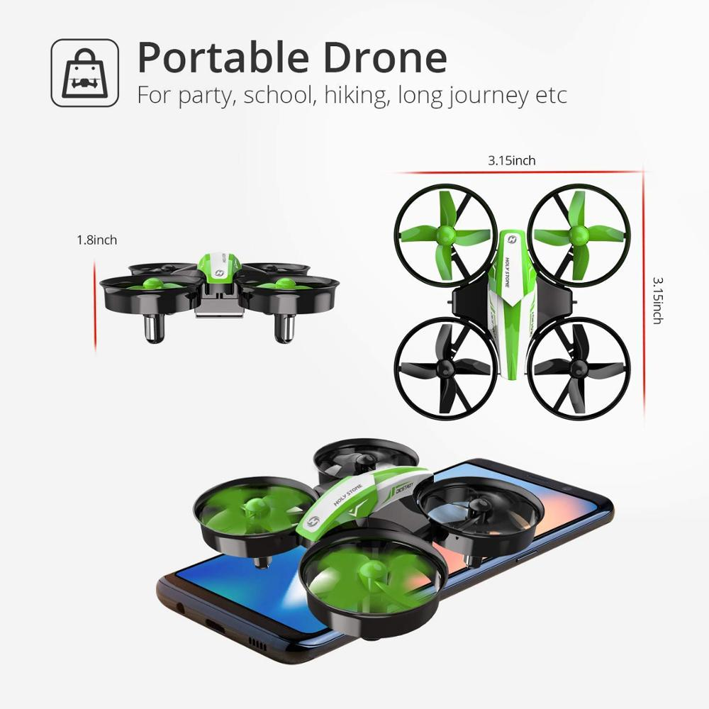 Holy Stone HS210 Mini Drone One Key Take off/Land Auto Hovering 3D Flip Mini Nano Drone RC Helicopter Quadrocopter For Kids 6