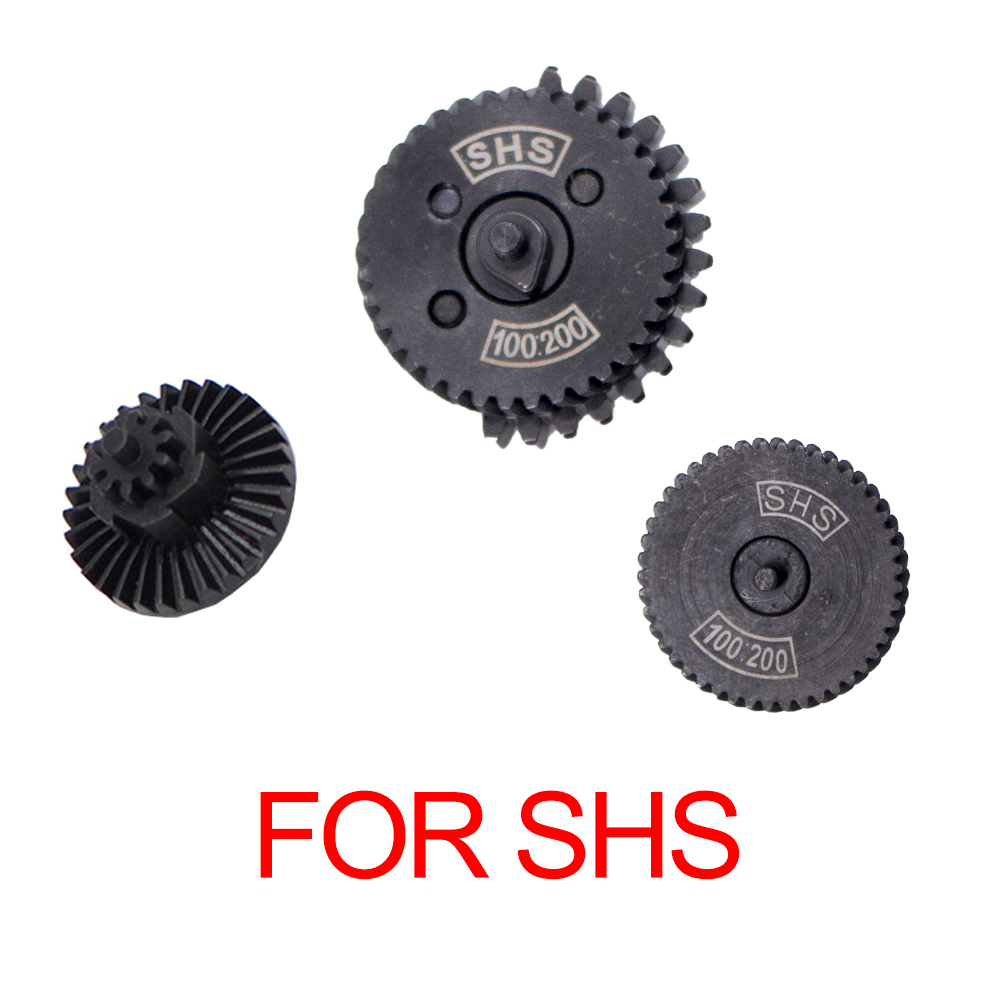 Hot SHS High Quality 100:200 100:300 Ultra-high Speed Gear Set Fit AEG Airsoft Ver.2/3 Gearbox For Hunting Shooting Accessories