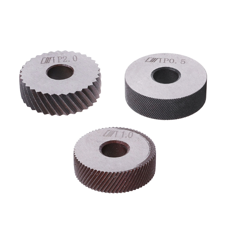 7pcs Knurling Tool 0.5 1 2mm Diagonal Dual Wheel Linear Knurl Set Lathe Machine
