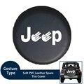 Мягкий ПВХ кожаный запасной чехол для шин водонепроницаемый Пальцы Тип RV колеса чехол для Jeep LAND-ROVER SUV подходит от 29 до 33