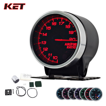 цена на 2 Inch 52MM Smoke Lens Wideband Air Fuel Ratio Gauge Meter With Electronic Sensor