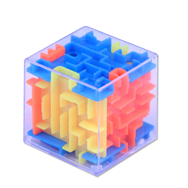 TOBEFU 3D Maze Magic Cube Transparent Six-sided Puzzle Speed Cube Rolling Ball Game Cubos Maze Toys for Children Educational 18