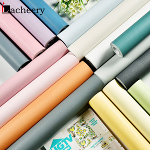 Image 4 - Solid Color Moire Waterproof Self adhesive Wallpaper for Living Room Kids Bedroom Vinyl Contact Paper for Dormitory Room Decor