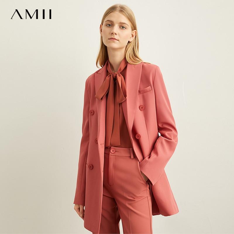 Amii Spring Minimal Western Style Outerwear Pants Shorts Professional Suit Women New Autumn Leisure Suit Two-Piece Set 11940584