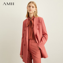 Amii Spring Minimal Western Style Outerwear Pants Shorts Professional Suit Women New Autumn leisure suit Two-Piece Set 11940584