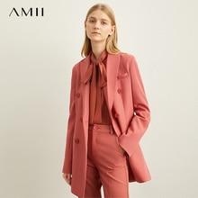 Amii الربيع الحد الأدنى النمط الغربي ملابس خارجية السراويل القصيرة المهنية مكتب السيدات سترة المرأة جديد الخريف الترفيه 11940584