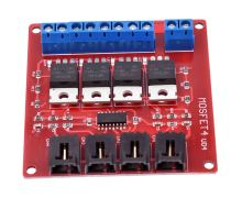 Vier Kanaals 4 Route MOSFET Button IRF540 V4.0 + MOSFET Switch Module Voor