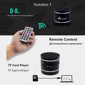 Image 4 - Alto falantes portáteis da vibração de adin bluetooth com rádio de fm remoto mini alto falante de vibração sem fio subwoofer baixo para o telefone