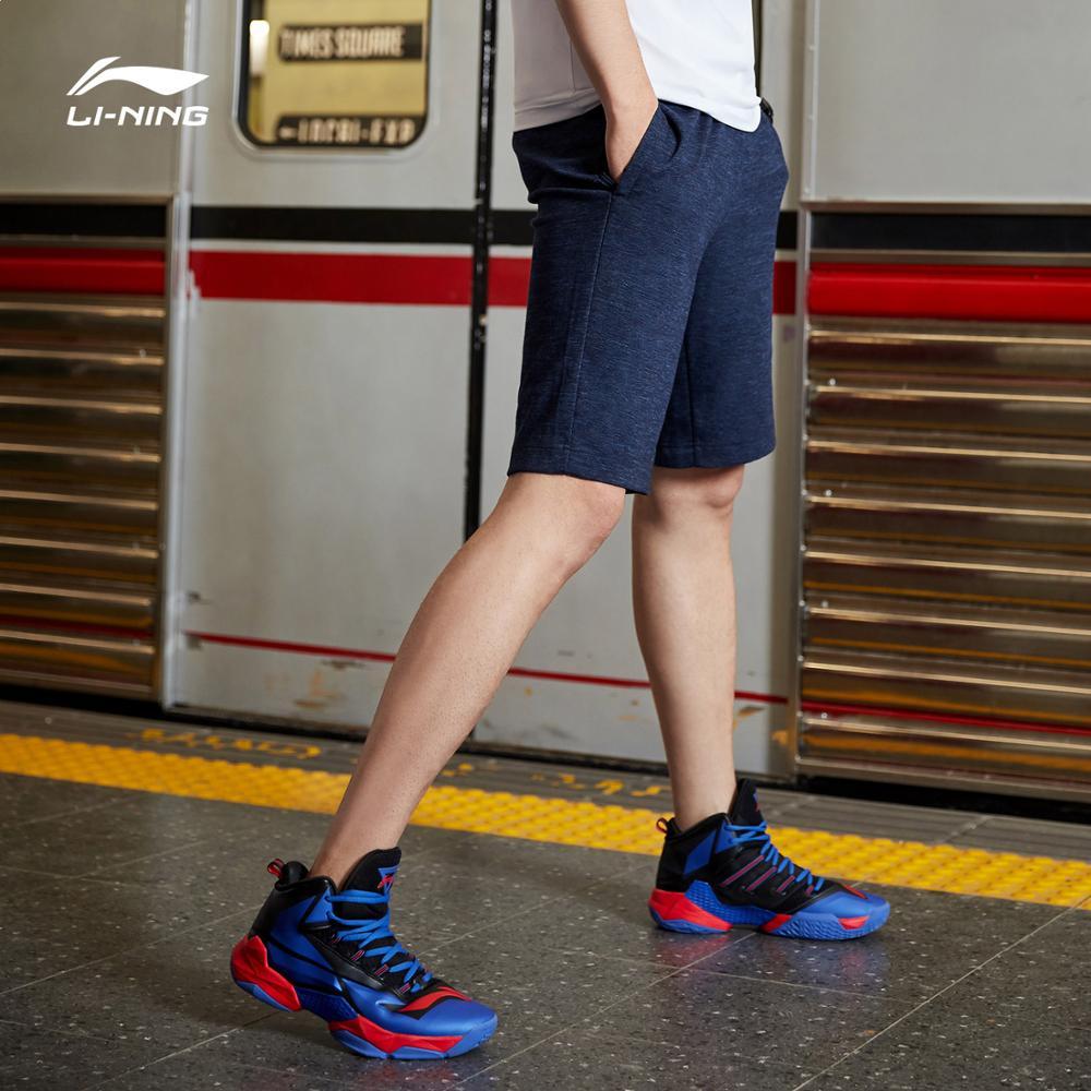 Мужские Спортивные Шорты Li Ning, дышащие шорты из 72% хлопка и полиэстера с подкладкой, классическая посадка, AKSP129 CAMJ19|Баскетбольные шорты|   | АлиЭкспресс
