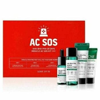 Some By Mi AHA BHA PHA 30 days Miracle AC SOS Kit Edition 1Pack (4items) Acne Treatment Anti Pimples Spot Acne Scars Blackhead