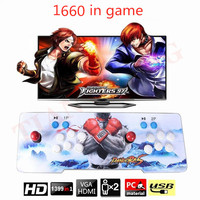 New Box 9 3D 1660 in 1 Arcade Game iron console 2 Players stick controller console HDMI VGA USB output PS3 TV PC 5s 6s 7