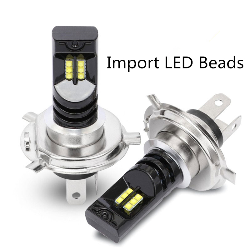 MINI 2PCS Canbus Car headlight H4 <font><b>H7</b></font> LED H11 9005 9006 Bulb headlamp light 7500K 48W <font><b>2000LM</b></font> automotivo Auto Fog Light Lamp Kit image